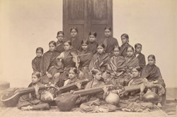 Pupils attending Maharani's Girls' College, Mysore.